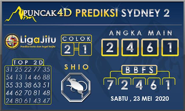 PREDIKSI TOGEL SYDNEY2 PUNCAK4D 23 MEI 2020