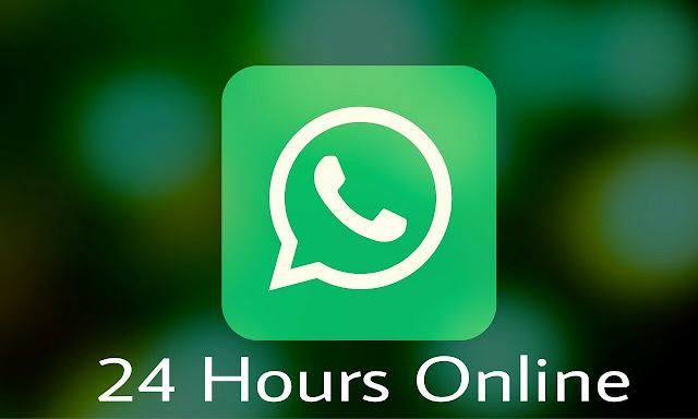 whatsapp me khud ko all time 24 hours online kaose show kare