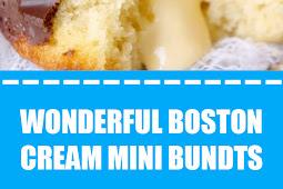 Wonderful Boston Cream Mini Bundts