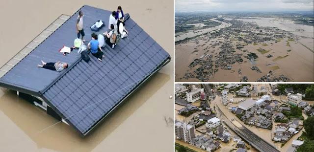 Banjir Mirip Tsunami Tewaskan 51 Orang, 5 Juta Penduduk Jepang Dievakuasi