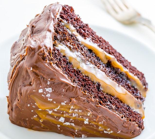 Salted Caramel Chocolate Cake #Cake #Chocolate