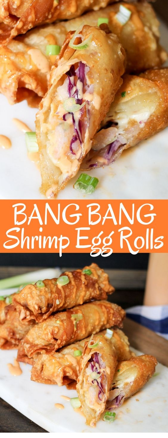 Bang Bang Shrimp Egg Rolls
