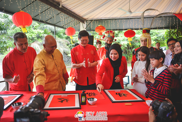 Chinese Calligraphy in conjunction with PETRONAS CNY Launch Event