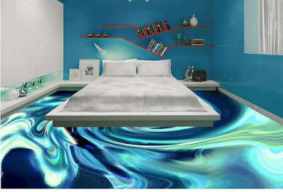 epoxy 3d flooring murals designs for modern bedrooms 2017