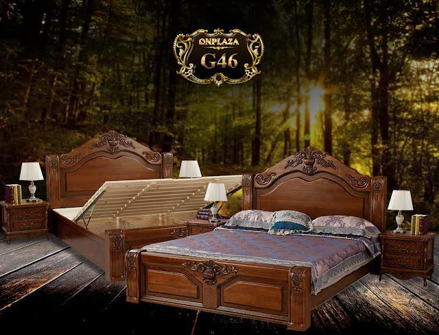 Giường ngủ bằng gỗ sồi đẹp G46