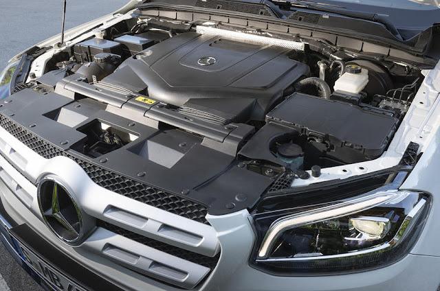 2018 Mercedes-Benz X-Class 4-Matic engine view