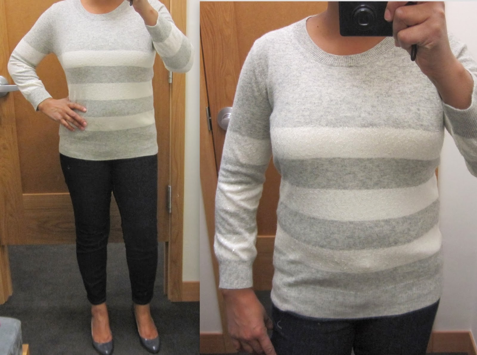bf463a8a6f8 J Crew Factory - sequin-stripe sweater