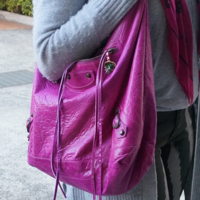 Balenciaga Day bag in 2005 magenta  | AwayFromTheBlue