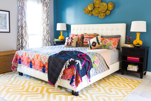Love this boho bedding makeover!