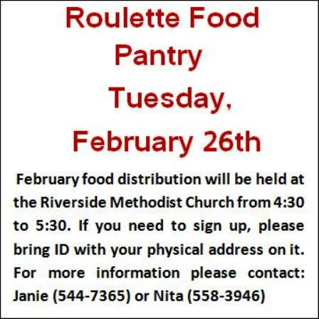 2-26 Roulette Food Pantry