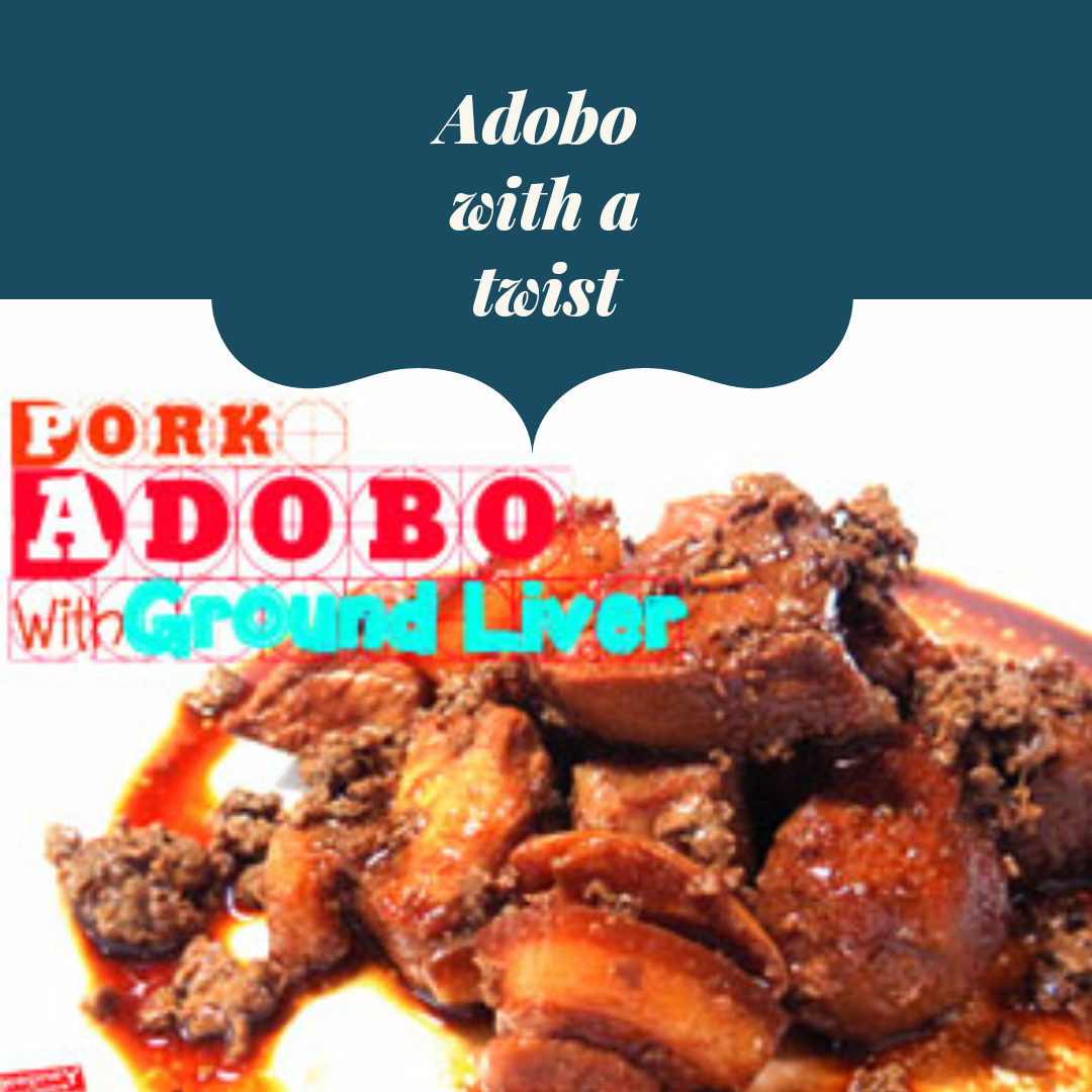 An image of Pork Adobo with Ground Liver on a plate