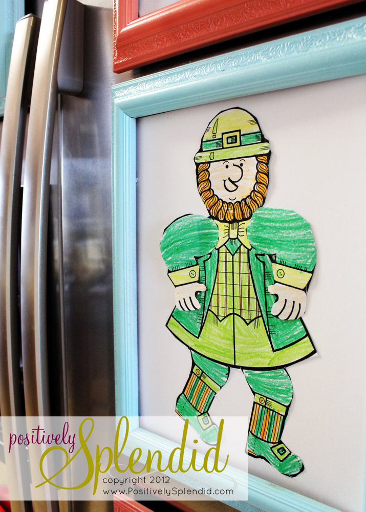 Magnetic Refrigerator Art Frames - Positively Splendid {Crafts ...
