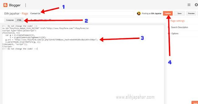 Cara Mudah Buat Contact Form Di Blog