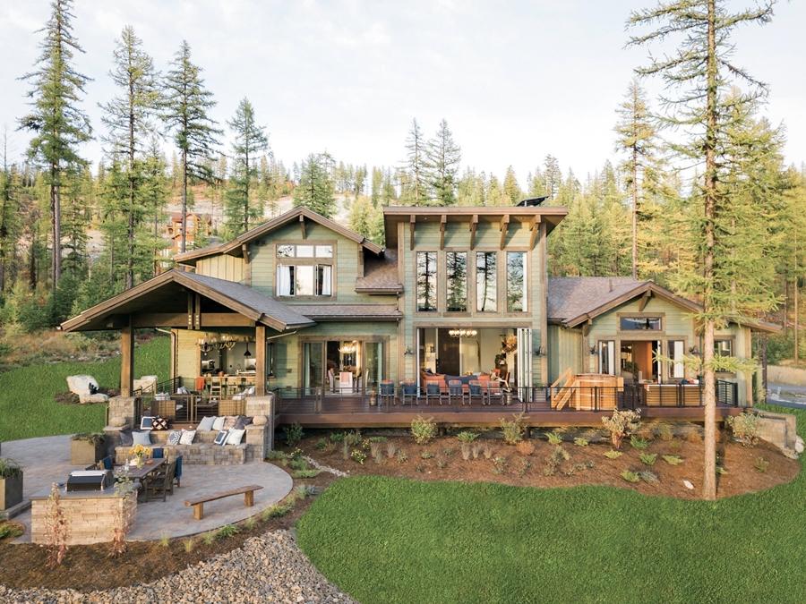 Eklektyczny dom w Montanie, wystrój wnętrz, wnętrza, urządzanie mieszkania, dom, home decor, dekoracje, aranżacje, dom w górach, dom drewniany, styl skandynawski, styl eklektyczny, styl rustykalny, mocne kolory, salon, jadalnia, kuchnia, sypialnia
