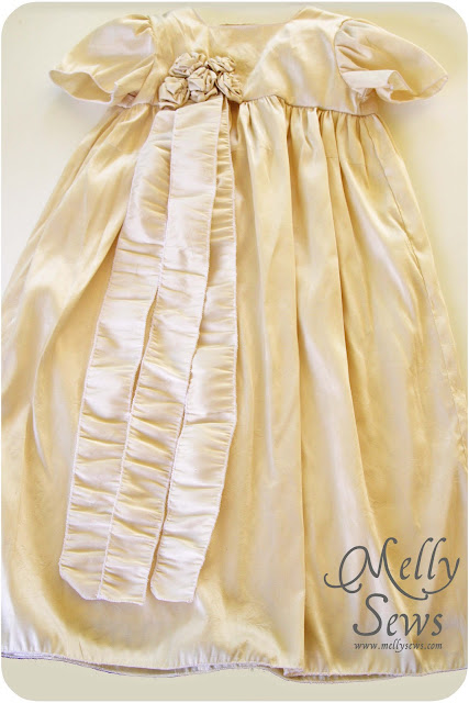 Silk Christening Gown by Melly Sews