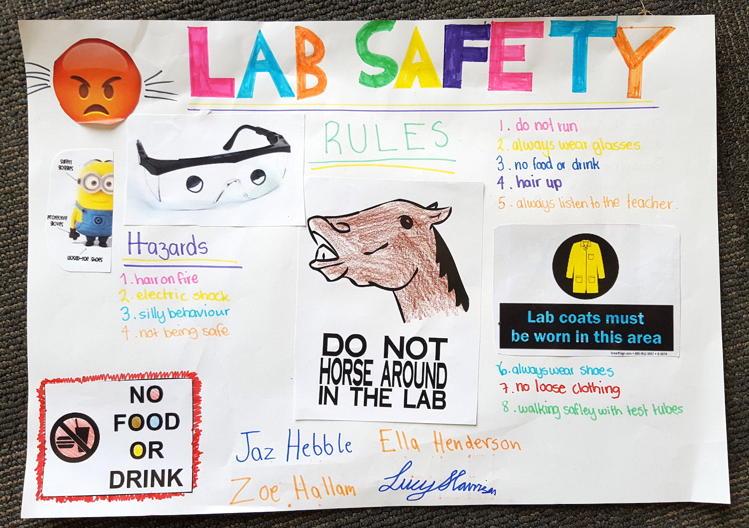 Science Lab Safety Posters on Science Of Smell Worksheet