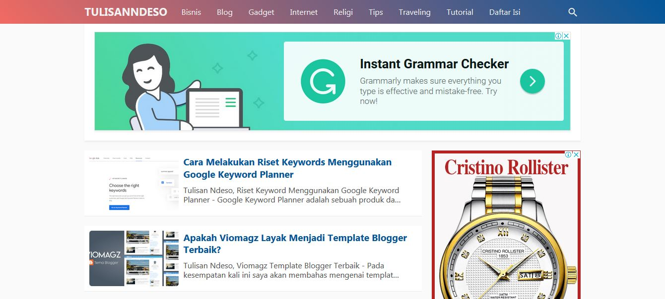 Redesign Template Premium Kompi Flexible Terbaru