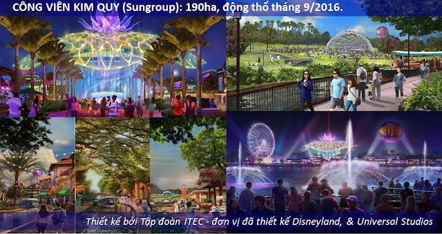 Phối cảnh dự án Công viên Kim Quy
