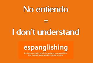 No entiendo = I don't understand