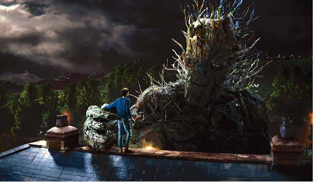 Le Monstre (Liam Neeson) de Quelques minutes après minuit (2017), réalisé par Juan Antonio Bayona, réalisateur de Jurassic World 2 : Fallen Kingdom