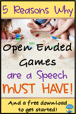 5 reasons to keep open ended games around your speech room!