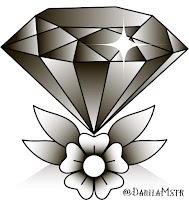 бриллиант тату
