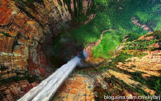 The waterfall with the biggest drop in the world