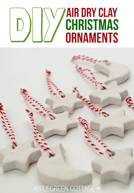Air Dry Clay Christmas Decorations - Air Dry Clay Christmas Decorations Tutorial - AppleGreen Cottage