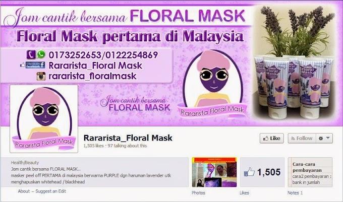 Tempahan Design Cover Photo Facebook: Rararista_Floral Mask