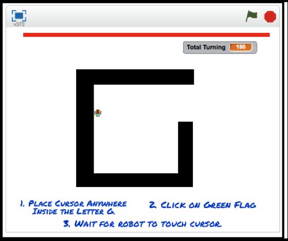 Scratch Programming: The Pledge Maze-solving Algorithm