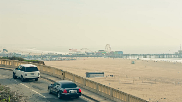 Viagem de carro em Santa Mônica e na Califórnia