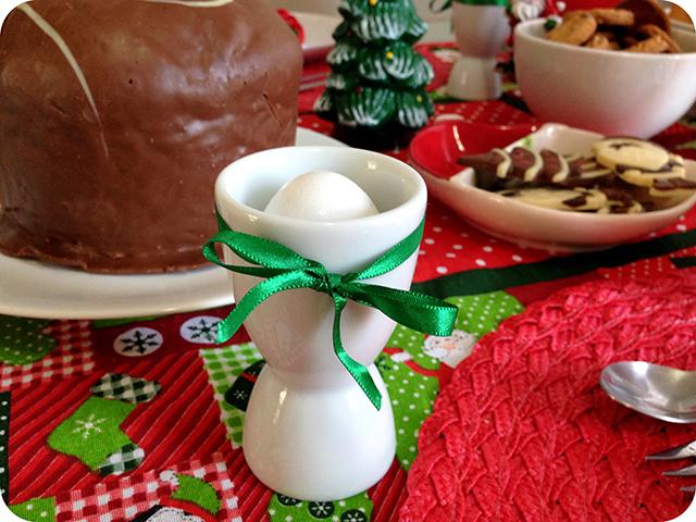 Decoração Café da Manhã Natalino - Ovo Cozido