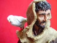 Orme Magiche Statua Scultura San Francesco modellini statuette santi san presepe pastori da colorare fatte a mano artigianato italiano