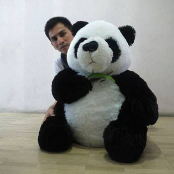 Boneka Panda Jumbo terbuat dari bahan yang berkualitas dengan bahan dalam  dacron empuk dan bahan luar dari rasfur yg halus dan lembut serta tidak  rontok. 2f5f06e25a