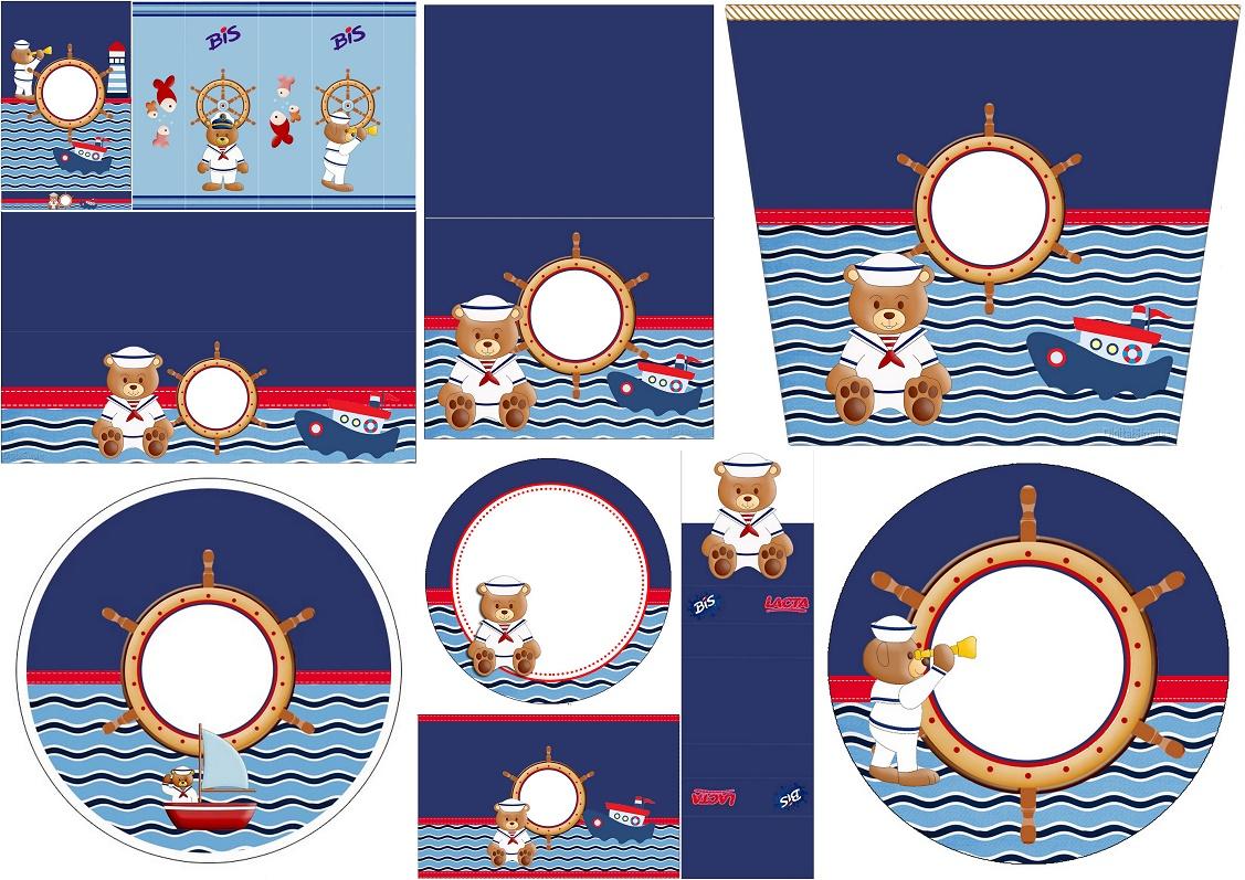Nice Sailor Bear Free Printable Candy Bar Labels