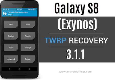 TWRP recovery for Galaxy S8 Exynos