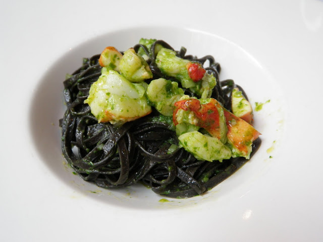 Lobster with Squid Ink Pasta