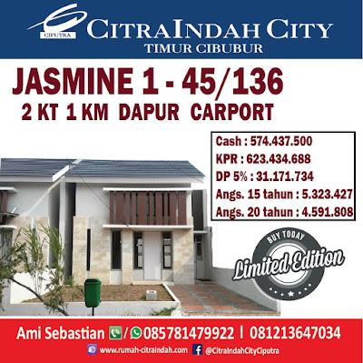 Masih ada JASMINE 1 Tipe 45/136 Citra Indah City