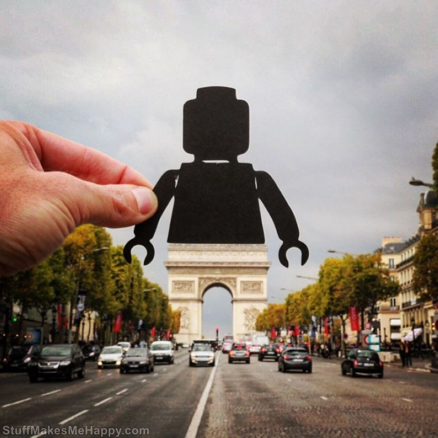 Artist Rich McCor Adds Creative Twist to His Travel Pictures with Paper Cut Outs