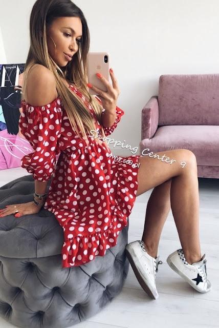sukienka na lato w grochy