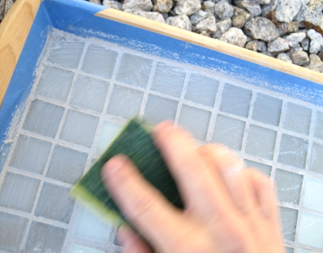 how to grout mosaic tiles