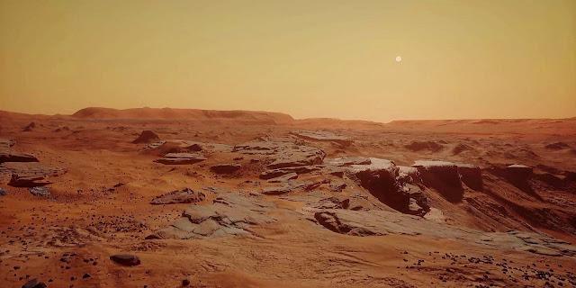 Mars 2030 VR image - landscape