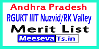 Andhra Pradesh RGUKT IIIT Nuzvid/RK Valley (Idupulapaya) Merit List