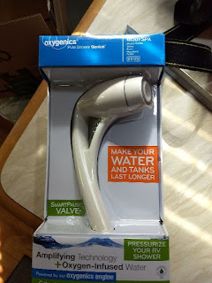 new shower head still in box