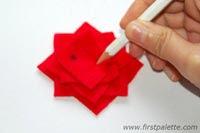 como hacer broche fieltro