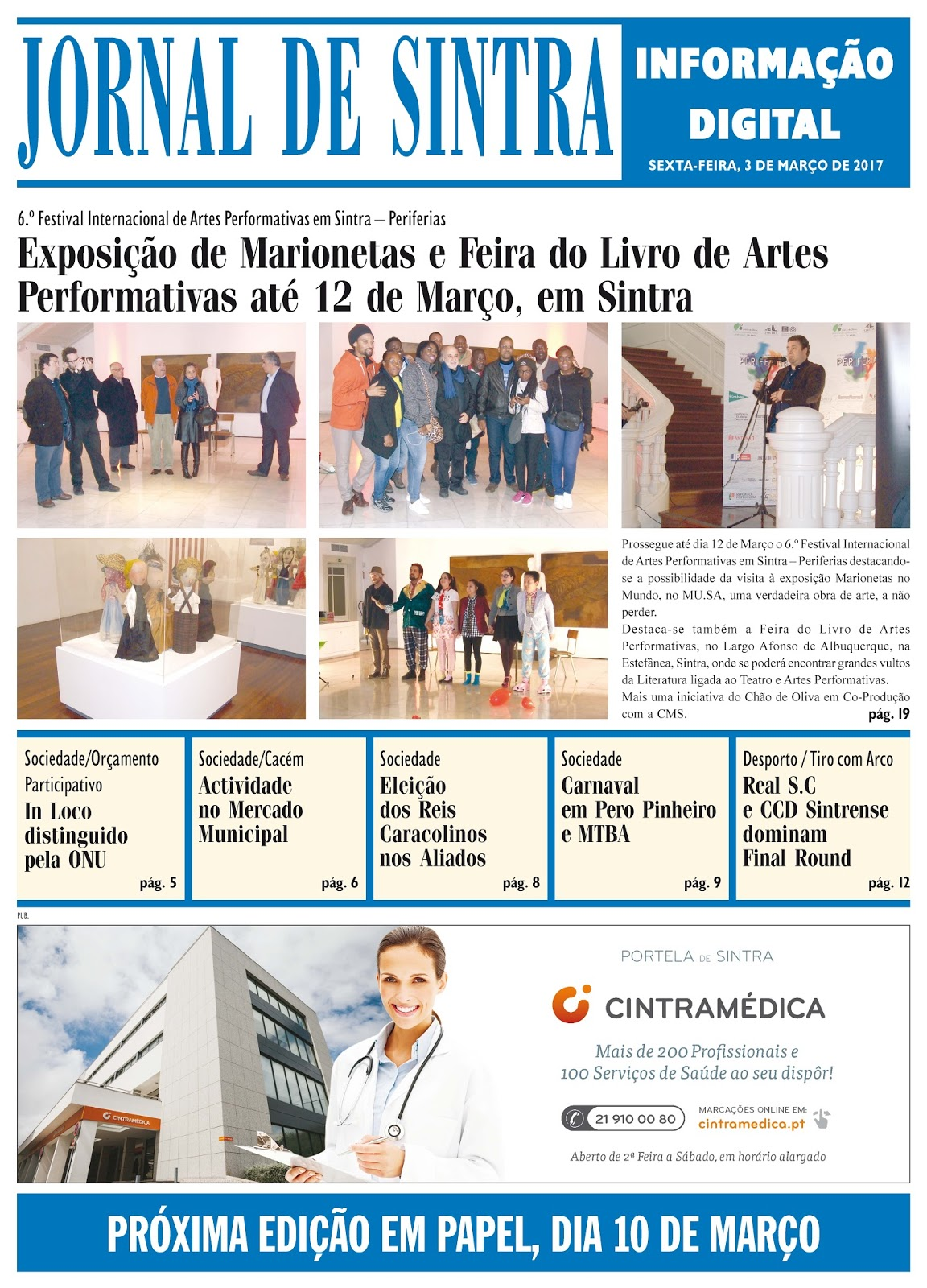 Capa da edição de 03-03-2017