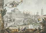 Tower Palace in the Moscow Kremlin by Giacomo Quarenghi - Cityscape Drawings from Hermitage Museum