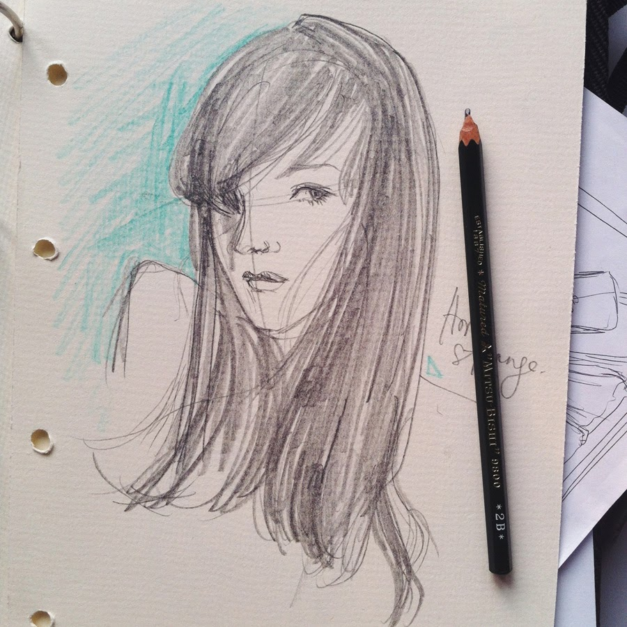 Kitty N. Wong / sketch of a girl