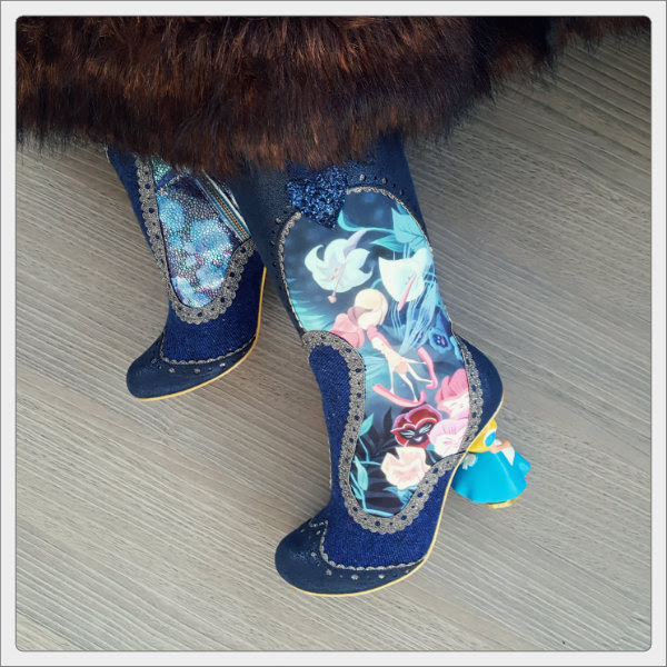 wearing alice in woonderland irregular choice lost your muchness boots