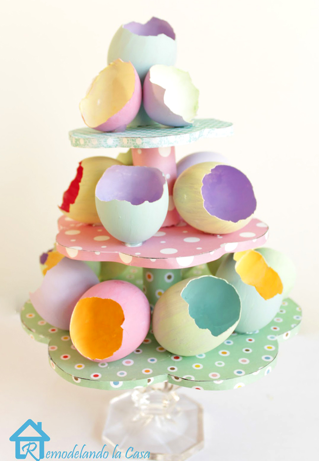 empty egg shells for Easter egg tree